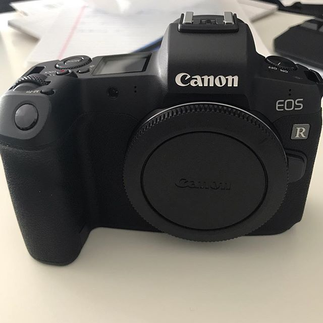 A new member to the family. #eosr #canonmirrorless