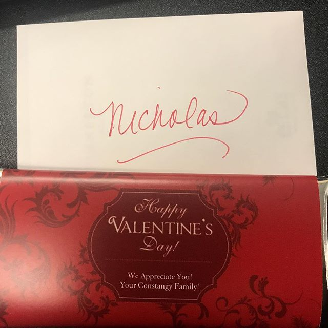 A sweet gesture from work! #happyvalentinesday #workgift